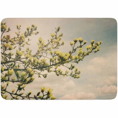 Angie Turner Yellow Magnolias Memory Foam Bath Rug
