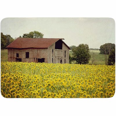 Angie Turner Field of Sunflowers Memory Foam Bath Rug