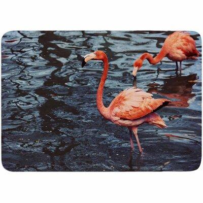 Angie Turner Pink Flamingo Memory Foam Bath Rug