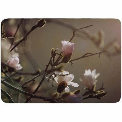 Angie Turner Magnolia Blooms Memory Foam Bath Rug