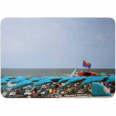 Angie Turner Superman at the Beach Memory Foam Bath Rug
