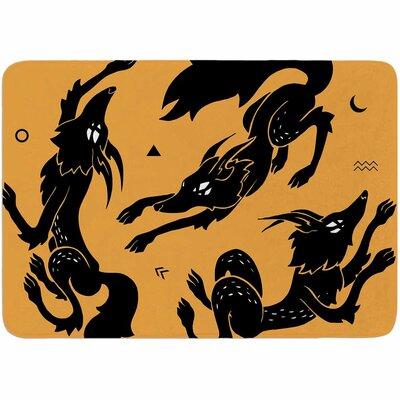 Anya Volk Dancing Wolves Memory Foam Bath Rug