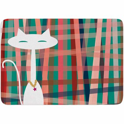 Bridgette Burton Here Kitty Kitty Memory Foam Bath Rug