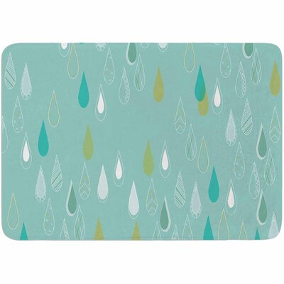 Bridgette Burton Feathered Rain Memory Foam Bath Rug