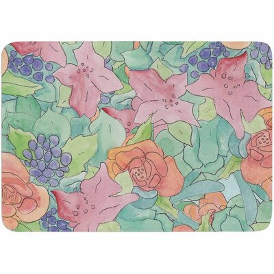 Catherine Holcombe Southwestern Floral Memory Foam Bath Rug