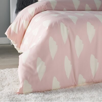 Allyson Johnson Dainty Blush Duvet Cover Set Size: Queen