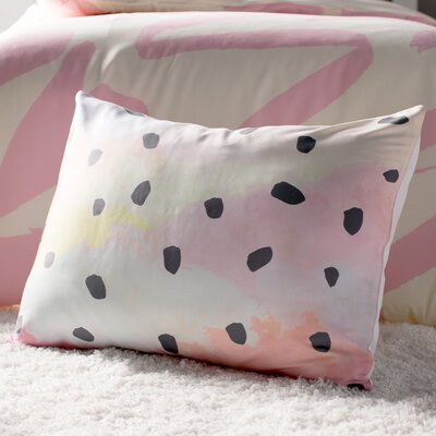 With Dots by Strawberringo Pastel Painting Featherweight Pillow Sham