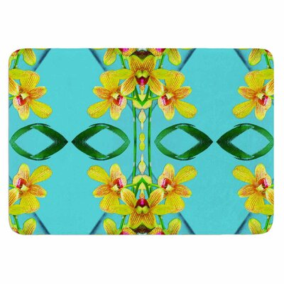 Dawid Roc Tropical Floral Orchids 3 Memory Foam Bath Rug