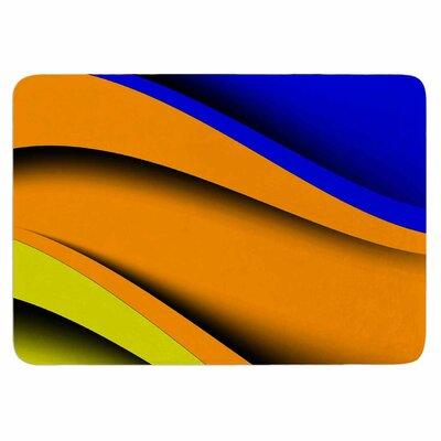 Fotios Pavlopoulos Colorful Flow Memory Foam Bath Rug