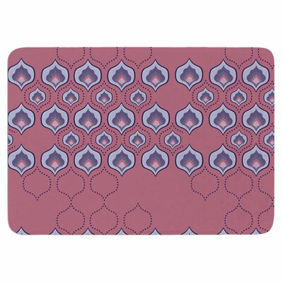 Fernanda Sternieri Happy Path in Coral Memory Foam Bath Rug
