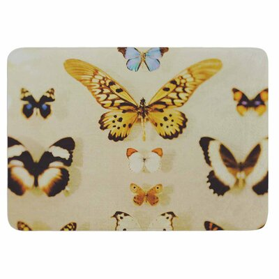 Chelsea Victoria The Butterfly Collection Memory Foam Bath Rug