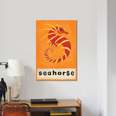'S is for Seahorse' Graphic Art Print on Canvas URBH6977 38301152