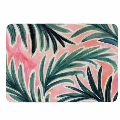 Crystal Walen Lush Palm Leaves Memory Foam Bath Rug