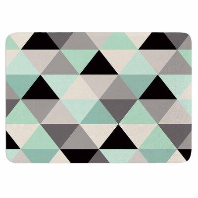 Crystal Walen Triangle Geo Mint Memory Foam Bath Rug