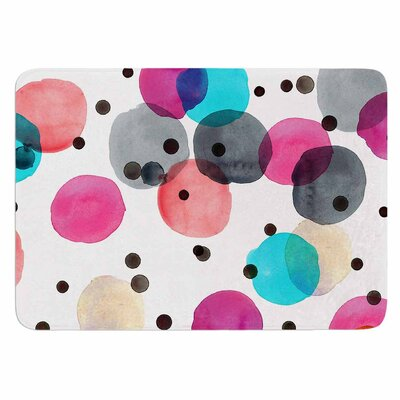 Crystal Walen Festive Watercolor Dots Memory Foam Bath Rug
