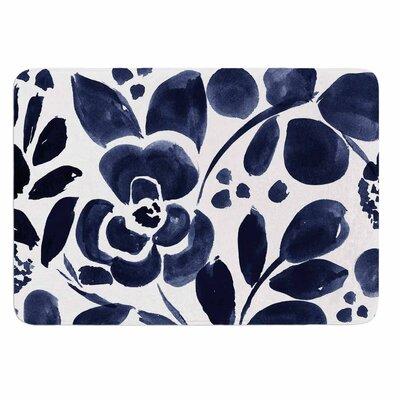 Crystal Walen Watercolor Floral Memory Foam Bath Rug
