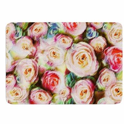 Dawid Roc Pastel Rose Romantic Gifts Memory Foam Bath Rug