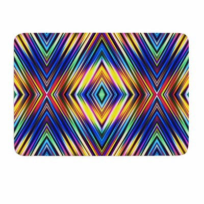 Dawid Roc Multi Colors Modern Tribal Memory Foam Bath Rug