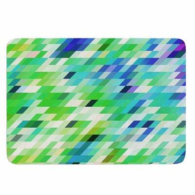 Dawid Roc Colorful Summer Geometric Memory Foam Bath Rug