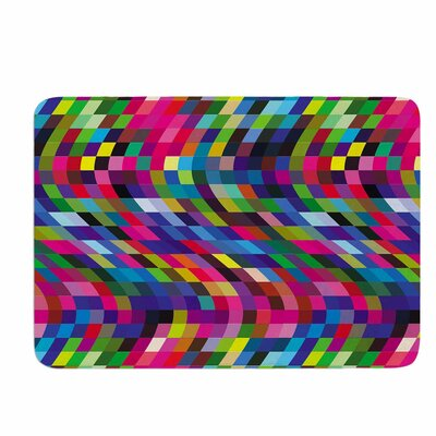 Dawid Roc Colorful Geometric Movement 1 Memory Foam Bath Rug
