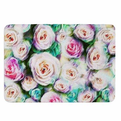Dawid Roc Bright Rose Floral Abstract Memory Foam Bath Rug