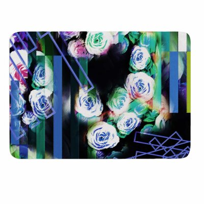 Dawid Roc Cool Roses-Floral Stripes Memory Foam Bath Rug