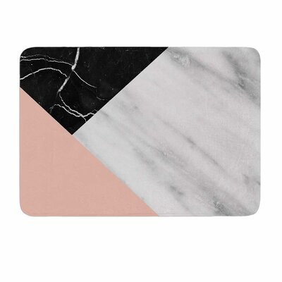 Cafelab Marble Collage With Pale Pink Memory Foam Bath Rug