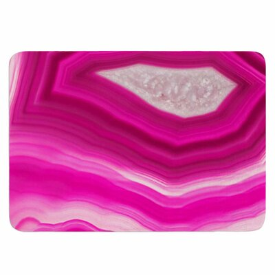Cafelab Bold Pink Agate Memory Foam Bath Rug