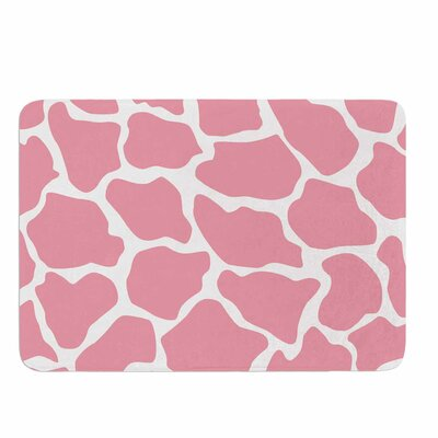 Wildlife Pink Animal Print 11 Memory Foam Bath Rug