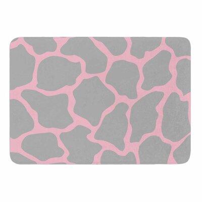Wildlife Pink Animal Print 9 Memory Foam Bath Rug