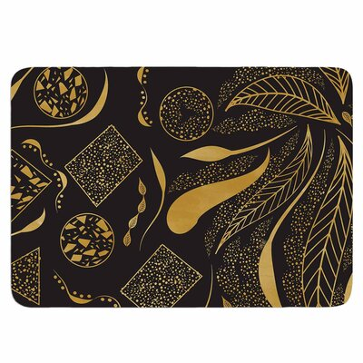 Famenxt Gold Ornaments Memory Foam Bath Rug