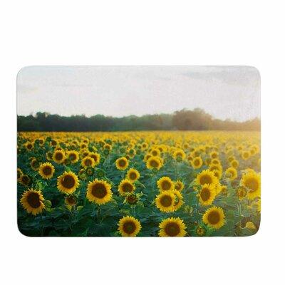 Chelsea Victoria Sunflower Fields Memory Foam Bath Rug