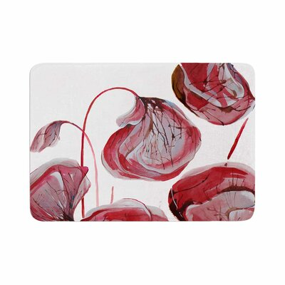 Ivan Joh Poppies Watercolor Memory Foam Bath Rug Size: 0.5 H x 24 W x 36 D
