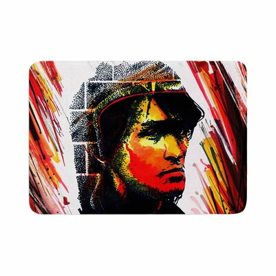 Ivan Joh Tsoi Is Alive People Memory Foam Bath Rug Size: 0.5 H x 17 W x 24 D
