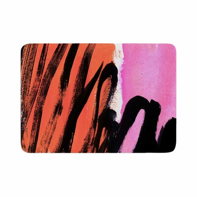 Iris Lehnhardt Strokes on Sherbet Abstract Memory Foam Bath Rug Size: 0.5 H x 17 W x 24 D