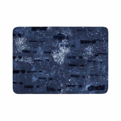 Iris Lehnhardt Tex Mix Abstract Memory Foam Bath Rug Color: Blue, Size: 0.5 H x 24 W x 36 D