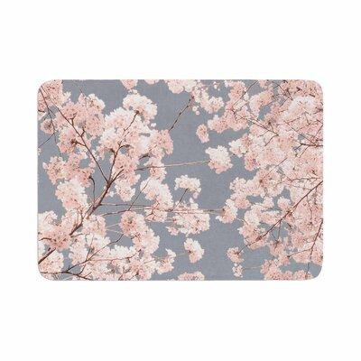 Iris Lehnhardt Rosy Sky Floral Memory Foam Bath Rug Size: 0.5 H x 17 W x 24 D
