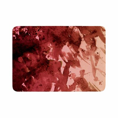 Ebi Emporium Splash out Memory Foam Bath Rug Size: 0.5 H x 17 W x 24 D, Color: Red/Coral