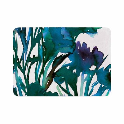 Ebi Emporium Petal for Your Thoughts Memory Foam Bath Rug Size: 0.5 H x 17 W x 24 D