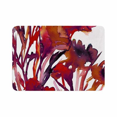 Ebi Emporium Pocket Full of Posies Maroon Memory Foam Bath Rug