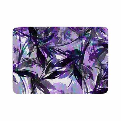 Ebi Emporium Floral Fiesta Lavender Painting Watercolor Memory Foam Bath Rug Size: 0.5 H x 24 W x 36 D