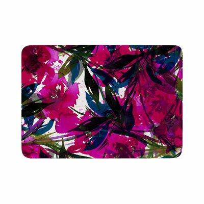 Ebi Emporium Floral Fiesta Magenta Watercolor Painting Memory Foam Bath Rug Size: 0.5 H x 24 W x 36 D
