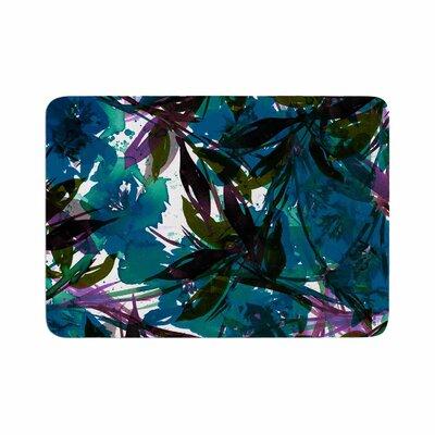 Ebi Emporium Floral Fiesta Watercolor Pattern Memory Foam Bath Rug Size: 0.5 H x 24 W x 36 D