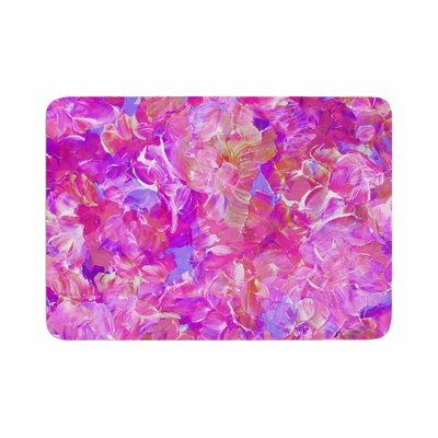 Ebi Emporium Bloom On! Abstract Memory Foam Bath Rug Size: 0.5 H x 17 W x 24 D, Color: Purple