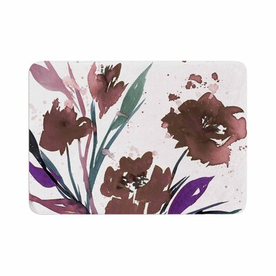 Ebi Emporium Pocket Full of Posies Memory Foam Bath Rug Size: 0.5 H x 24 W x 36 D