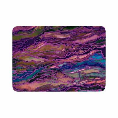 Ebi Emporium Marble Idea! Rich Jewel Tone Memory Foam Bath Rug Size: 0.5 H x 24 W x 36 D