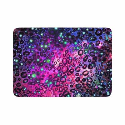 Ebi Emporium Dotty Ocean Memory Foam Bath Rug Size: 0.5 H x 17 W x 24 D