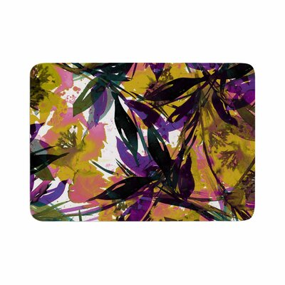 Ebi Emporium Floral Fiesta Memory Foam Bath Rug Size: 0.5 H x 24 W x 36 D