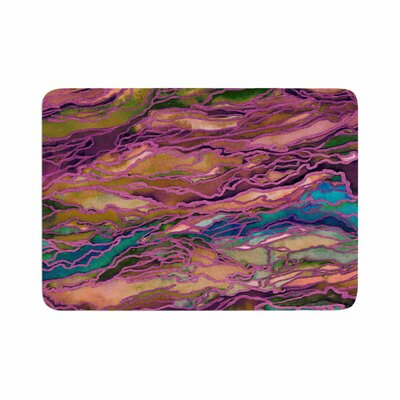 Ebi Emporium Marble Idea! Light Jewel Tone Memory Foam Bath Rug Size: 0.5 H x 17 W x 24 D