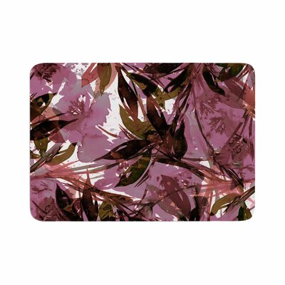 Ebi Emporium Floral Fiesta Mauve Pattern Watercolor Memory Foam Bath Rug Size: 0.5 H x 17 W x 24 D